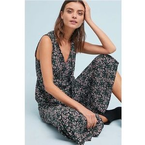 Anthropologie Maeve Ansonia Floral Ruffle Jumpsuit